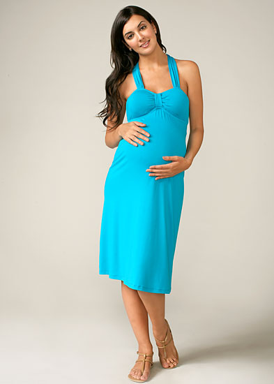 Maternal America Halter Dress w/Cups