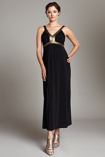 Maternal America Gold Band Maxi Dress