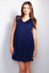Maternal America Navy Shift Dress