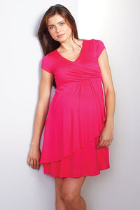 Maternal America Faux Wrap Nursing Dress