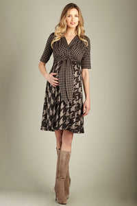 Maternal America Houndstooth Maternity Dress - tummystyle.com
