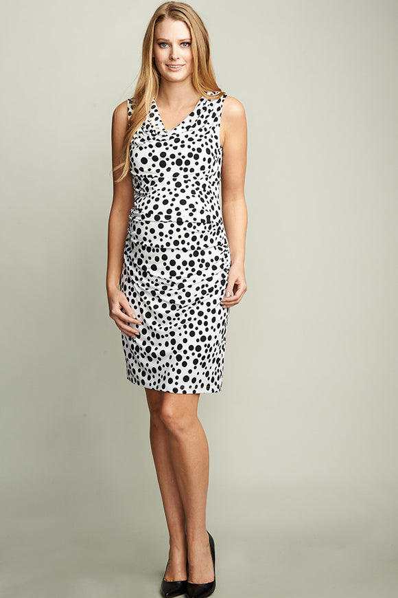 UrbanMA Cowl Neck Maternity Dress - tummystyle.com