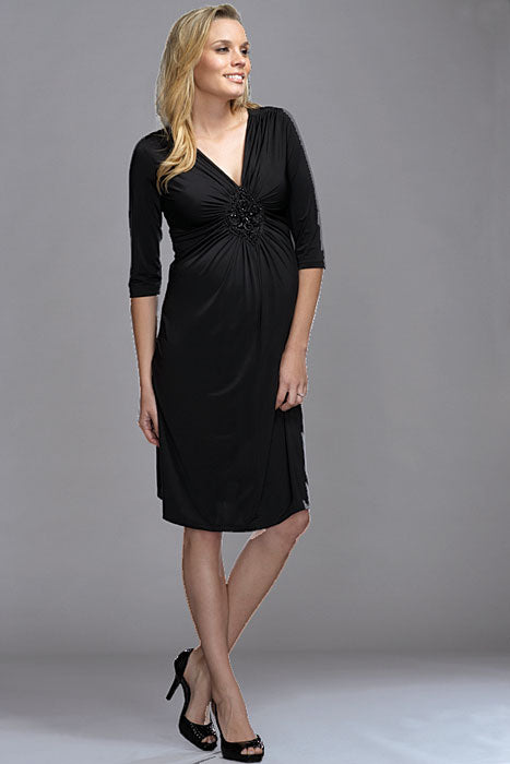 Maternal America Beaded Diamond Maternity Dress - tummystyle.com