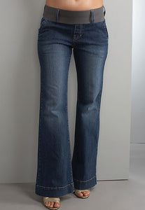 Maternal America Megan Blue Maternity Jeans - tummystyle.com