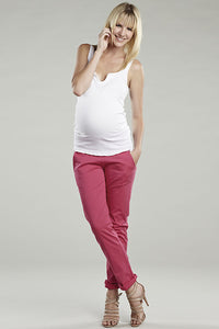Maternal America Pink Over The Belly Slim Pants