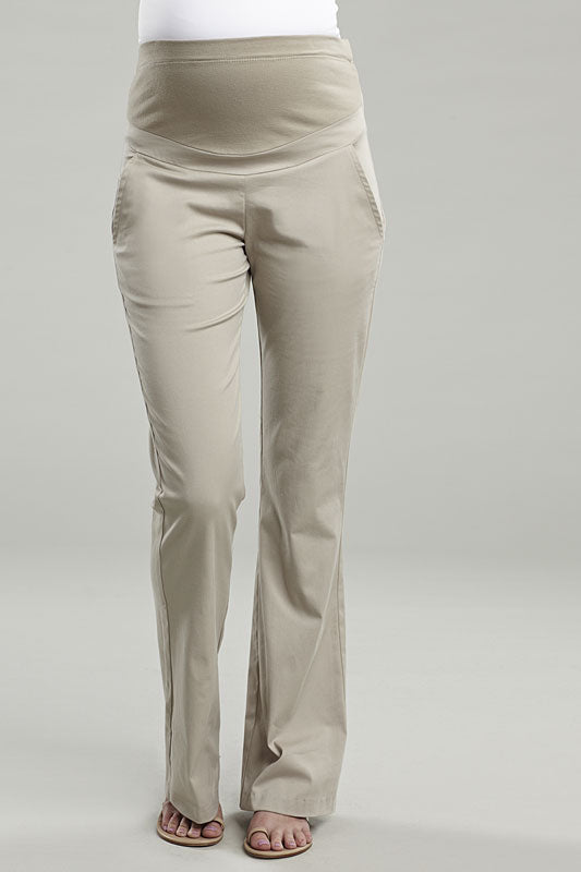 Maternal America Over The Belly Boot Leg Pants - tummystyle.com