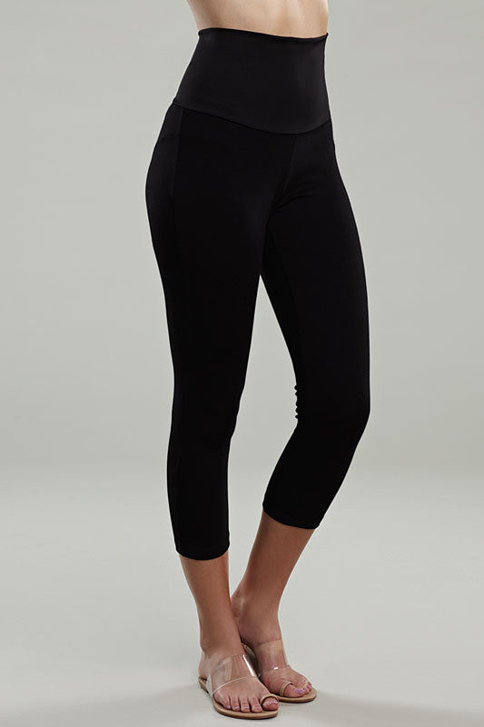 Maternal America Tummy Tuck Crop Leggings - tummystyle.com