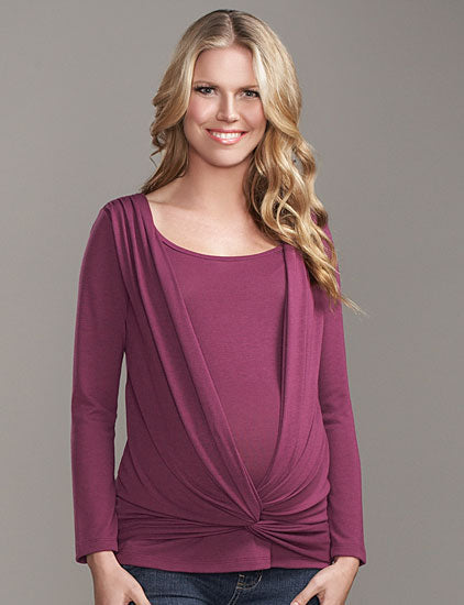 Maternal America Criss Cross Maternity/Nursing Top - tummystyle.com