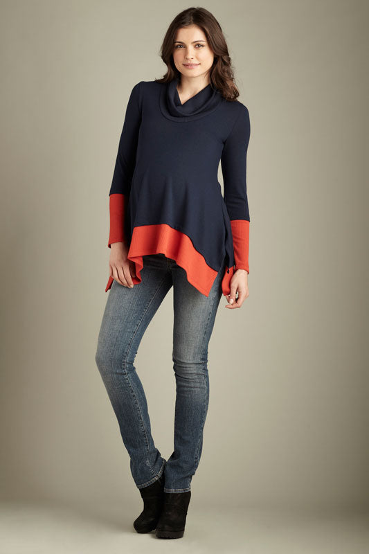 Maternal America Layered Maternity Sweater - tummystyle.com