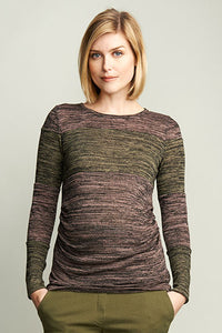 Maternal America Blush Panel Maternity Top - tummystyle.com