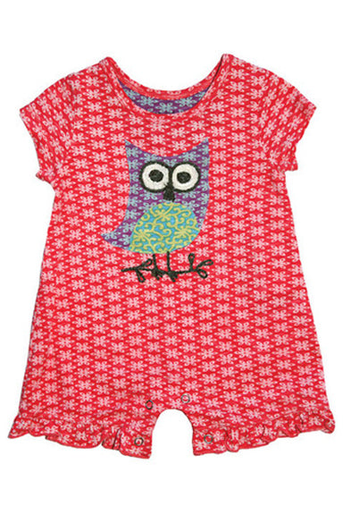 Mimi & Maggie Wise Owl Baby Romper - tummystyle.com