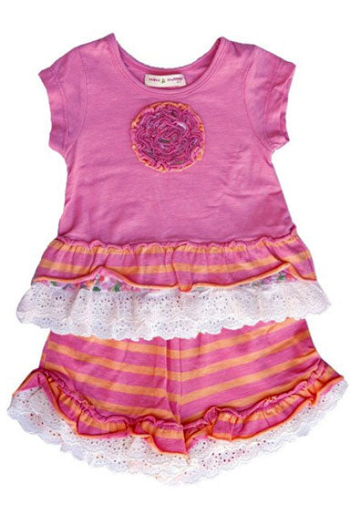Mimi & Maggie Beach 2 PC Baby Day Set in Pink - tummystyle.com