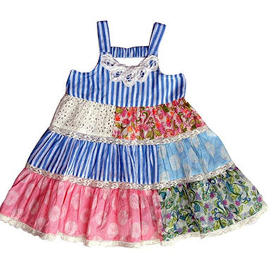 Mimi & Maggie Beach House Patchwork Toddler Dress - tummystyle.com