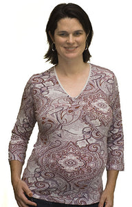 Noppies 3/4 Sleeve Paisley V - Neck
