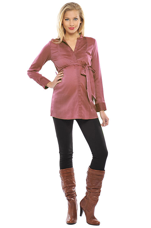 Olian V-Neck Maternity Blouse