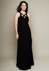 Olian Sleeveless Maxi Maternity Dress