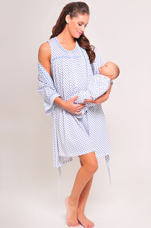 Olian Maternity 3 PC Diamond Nursing Nightie Set - tummystyle.com