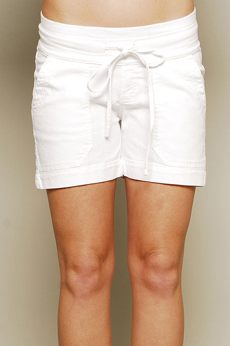 Olian Maternity Elly B Denim Short Pants - tummystyle.com