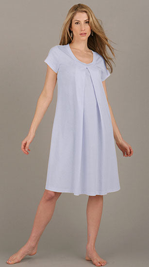 Organic Short Sleeeve Hospital Nursing Gown