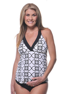Prego Maternity Chain Mail Trim Tie Halter