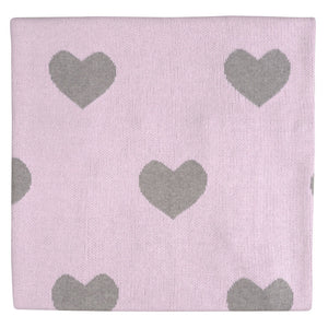 Heart Knitted Blanket - tummystyle.com