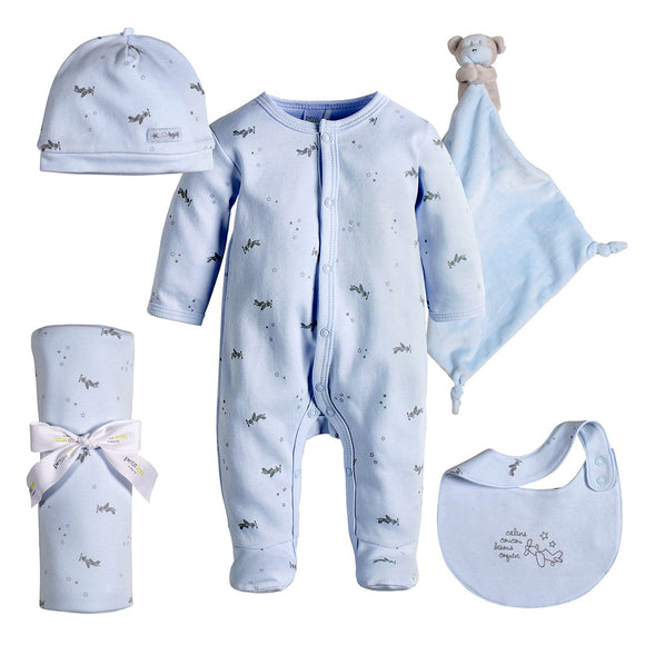 Petit Lem Sleepy Blue 4 Piece Gift Bundle