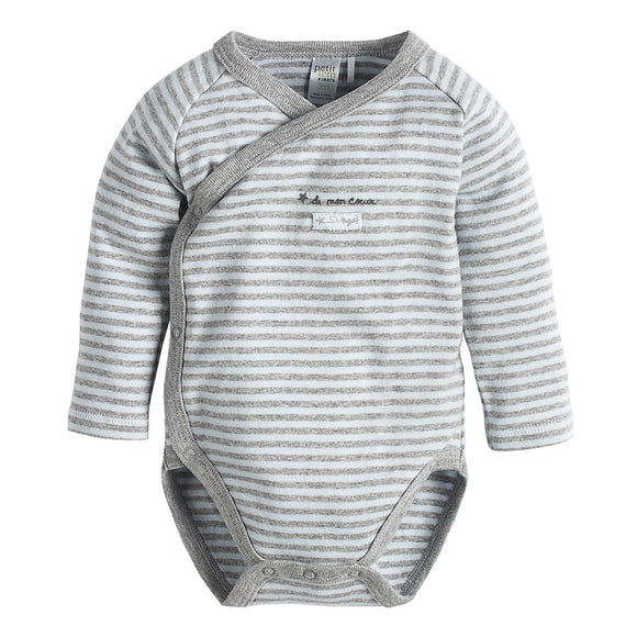 In the Sky Cross-Over Striped Diaper Shirt