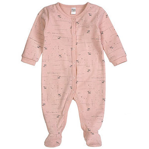 PetitLem Owl Printed Pink Sleeper