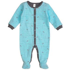 PetitLem Raccoon Printed Sleeper - tummystyle.com