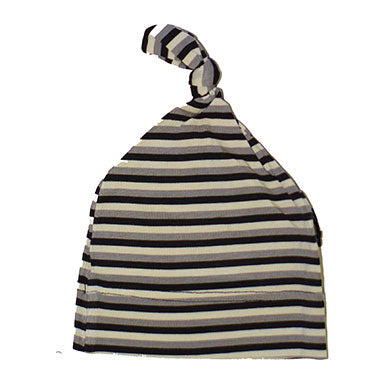 Sweet Bamboo Knot Cap Black Stripe - tummystyle.com