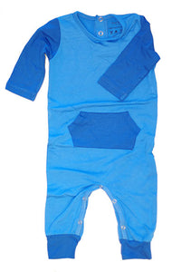 Sweet Bamboo Pocket Romper Chalk Blue - tummystyle.com
