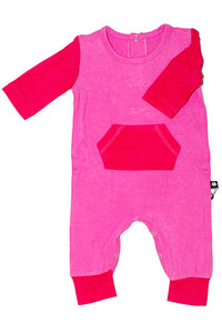 Sweet Bamboo Pocket Romper Perfect Pink