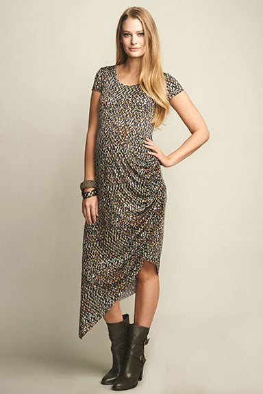 UrbanMA Side Ruched Maternity Dress - tummystyle.com