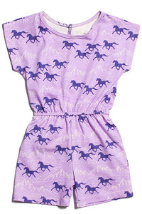 Winter Water Factory Berlin Romper Lavender Wild Horses - tummystyle.com