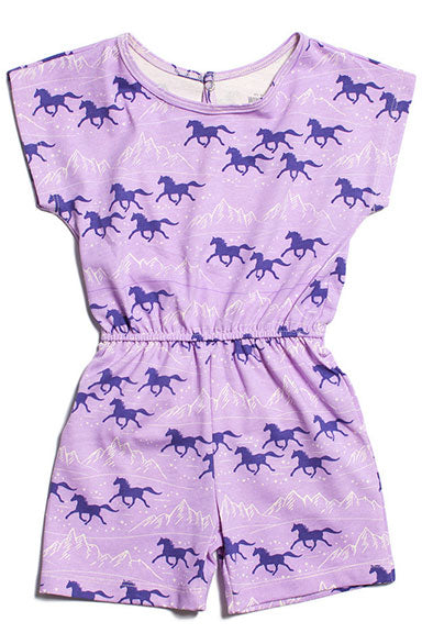 Winter Water Factory Berlin Romper Lavender Wild Horses