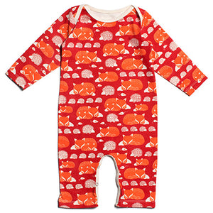 Foxes and Hedgehogs Baby Romper - Winter Water Factory
