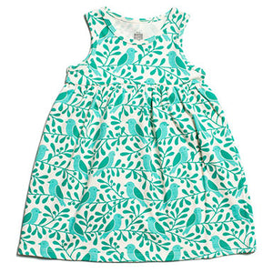 898e453e5 Winter Water Factory Oslo Toddler Dress Turquoise Birds and Berries ...
