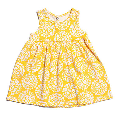 Winter Water Factory Oslo Baby Dress Flower Yellow