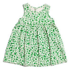 Winter Water Factory Oslo Baby Dress Hazel Forest Green