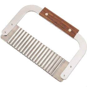 Soap Cutter, Wooden Handle - Wave Blade