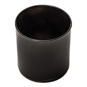 Straight-Sided Tumbler Jar - Black
