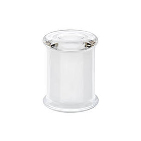Metro Small - White, with Clear Flat Lid