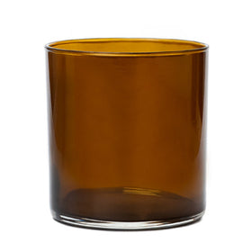 Straight-Sided Tumbler Jar - Amber