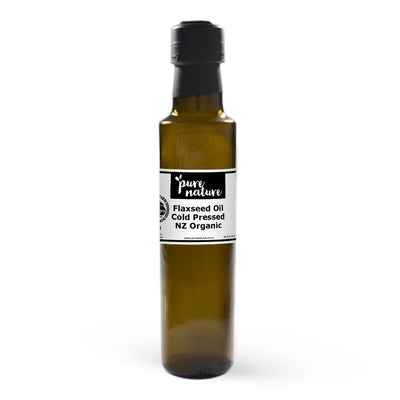 New Zealand Organic Cold Pressed Flaxseed Oil - Food Grade