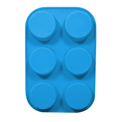 Soap Mould - Round, 6 Cavity