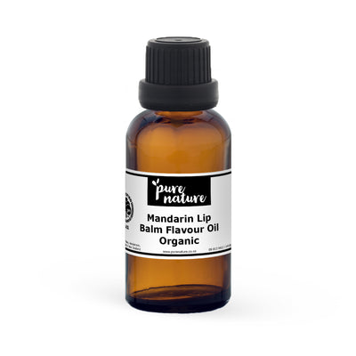 Mandarin Lip Balm Flavour Oil - Organic 30ml