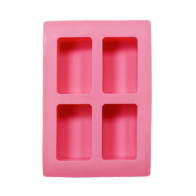 Soap Mould - Bar, 4 Cavity