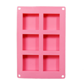 Soap Mould - Square, 6 Cavity