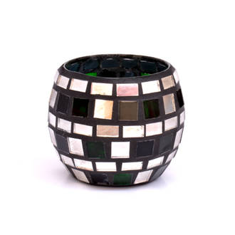 Mosaic - Black, Silver & Green