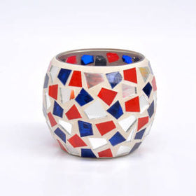 Mosaic - Red, Silver & Blue